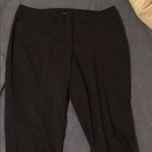 Cropped navy slacks